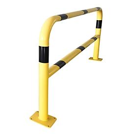 Sicherheitsgitter, zum Aufdübeln, L 2000 mm, gelb/schwarz
