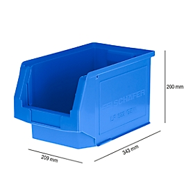 Sichtlagerkasten LF 322, Kunststoff, 10,4 l, blau