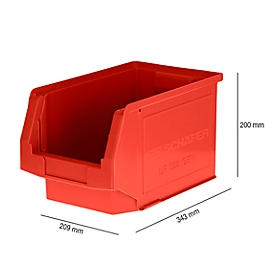Sichtlagerkasten LF 322, Kunststoff, 10,4 l, rot