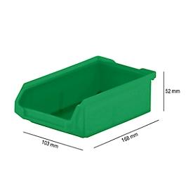 Sichtlagerkasten SSI Schäfer LF 210, Polypropylen, L 168 x B 103 x H 52 mm, 0,5 l, grün