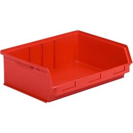 Sichtlagerkasten SSI Schäfer LF 351 ZW, Polypropylen, L 348 x B 470 x H 145 mm, 17 l, rot