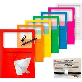 Sichtmappe Kolma Visa Dossier Script, A4, 10 Stück, mit Gratisstift