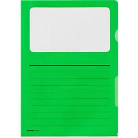 Sichtmappe Kolma Visa Dossier Script, CopyResistant Lisse, A4, 10 Stück, grün