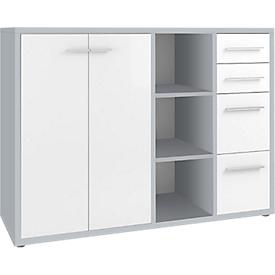 Sideboard-Kombination Player, 3 Regalfächer, 4 Schubladen, 2 Türen, B 1557 mm,