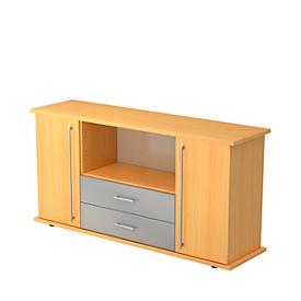 Sideboard mit 2 Schubladen, Buche
