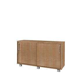 Sideboard SINCERO LINE met schuifladen en deuren, B 1200 mm x D 500 mm x H 720 mm, kersen-Romana-patroon