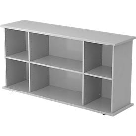 Sideboard TARA, B 1661 x D 448 x H 840 mm, lichtgrijs