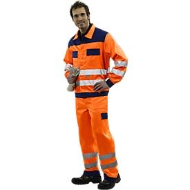 Signalisatie-broek met tailleband, oranje/blauw, maat 48