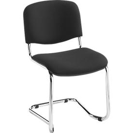 Silla cantilever ISO Swing, negro