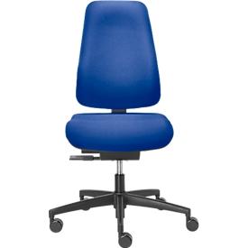 Silla de oficina Dauphin BASISLINE 0890, mecanismo sincronizado, sin reposabrazos, soporte pélvico, azul