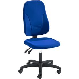 Silla de oficina Prosedia YOUNICO plus 3, contacto permanente, sin apoyabrazos, respaldo 3D, azul
