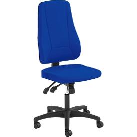 Silla de oficina Prosedia YOUNICO PLUS 8, sin reposabrazos, mecanismo sincrónico, asiento contorneado, respaldo 3D, azul/negro