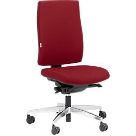 Silla de oficina Steifensand Ceto CT2450, mecanismo sincronizado, sin reposabrazos, asiento de membrana, sin reposacabezas, rojo