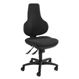Silla de oficina Topstar ERGO POINT, mecanismo sincronizado, sin reposabrazos, asiento ergonómico especial, negro