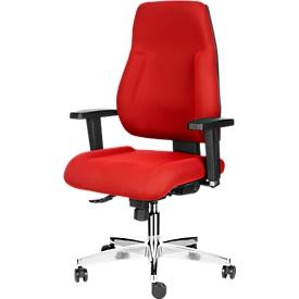 Silla de oficina Topstar FEEL GOOD, mecanismo sincronizado, sin reposabrazos, respaldo alto, asiento grande y contorneado, rojo