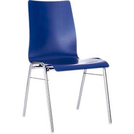 Silla moldeada 720, asiento moldeado cónico, azul