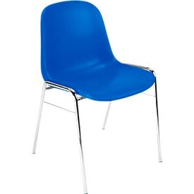 Silla moldeada Beta, apilable, resistente a los desinfectantes, altura del asiento 460mm, azul