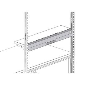 Sistema de canaleta para cables Hüdig+Rocholz System Flex, para el montaje en un estante portaobjetos, 800mm