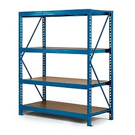 Sistema de estanterías de paleta ancha, sección básica, 4 estantes, W 1600 x D 600 x H 2000 mm