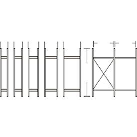 Sistema de estanterías R 3000, marco, Al 2278 x P 300mm