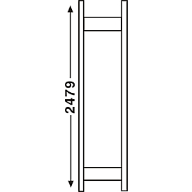 Sistema de estanterías R 3000, marco, Al 2490 x P 300mm
