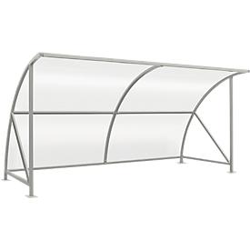 Sistema de refugio para exteriores modelo Bamberg, transparente, ancho 4080 mm, galvanizado