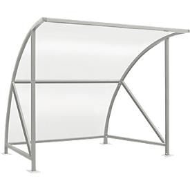 Sistema de refugio para exteriores modelo Bamberg, transparente, W 2040 mm, galvanizado