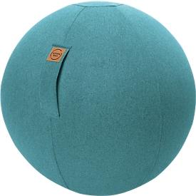 Sitzball FELT, Filzimitat 100% Polyester, waschbar, reißfest, Trageschlaufe, aquarius