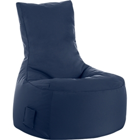 Sitzsack swing scuba®, 100% Polyester, abwaschbar, B 650 x T 900 x H 950 mm, jeansblau