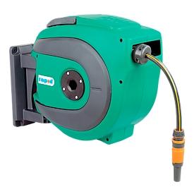 Slanghaspel, automatisch, voor koud water, lengte 18 meter, kunststof
