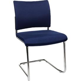 Sledestoel SEAT POINT, gestoffeerd, zonder armleuningen, stapelbaar, set van 2, blauw