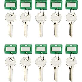 Sleutelhanger, 10 stuks, groen