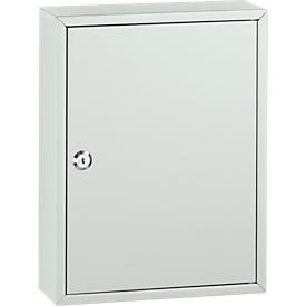 Sleutelkast met 40 sleutelhangers, lichtgrijs/lichtgrijs