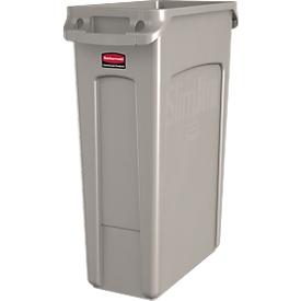 Slim Jim® afvalbak, 87 liter, beige