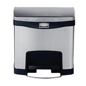 Slim Jim® Step- ON Tretabfallbehälter aus Edelstahl, 15L, schwarz