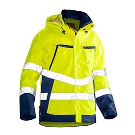 Softshell-jas Jobman 1283 PRACTICAL, Hi-Vis, EN 343 I EN ISO 20471 klasse 3, geel I donkerblauw, polyester, XS