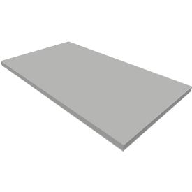 Sokkel QUANDOS BOX, B 800 x D 440 x H 35 mm, aluminium zilver