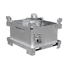 Sonderabfall-Behälter BAUER SAF 450, Stahlblech, feuerverzinkt, abschließbar, B 1200 x T 1000 x H 820 mm