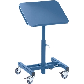 Soporte de material, móvil, manual, ajuste de altura 775-1105 mm