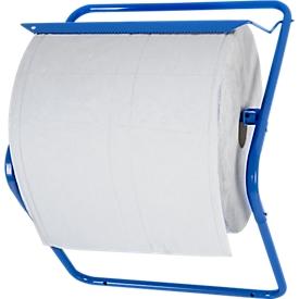 Soporte de pared para rollos de papel de limpieza, para anchura de rollo 400 mm, An 490 x P 300 x Al 410mm, metal revestido de polvo