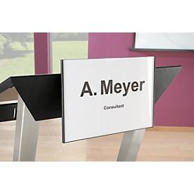 Soporte para placa con el nombre/logotipo para atril Audience