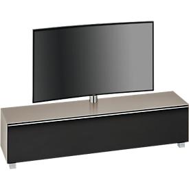 Soundboard Nizza, mit TV-Halterung, Halterung schwenkbar, 6 Fächer, Sandglas/matt