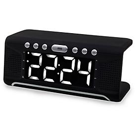Soundmaster Uhrenradio UR800, mit kabelloser QI-Ladestation, 2 Weckzeiten
