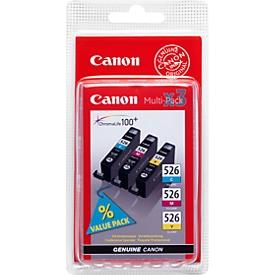 Sparpaket 3 Stück Canon Tintenpatronen CLI-526 cyan/magenta/gelb, original