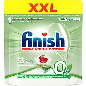 Spülmaschinentabs Finish All in 1 Regular, mit Klarspül- und Salzfunktion, 63 Tabs