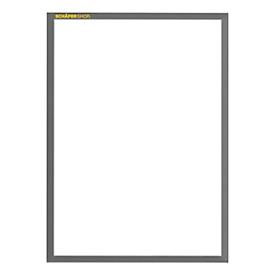 SSI Magnetrahmen Standard, DIN A4 Hochformat, 5 Stück, grau