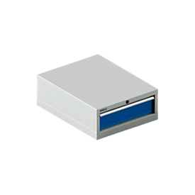 SSI SCHÄFER ladekast 27-36, 1 lade, tot 75 kg, B 564 x D 725 x H 250 mm, gentiaanblauw/lichtgrijs