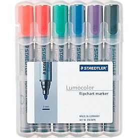 STAEDTLER Flipchartmarker Lumocolor 356, farbsortiert, 6er-Set