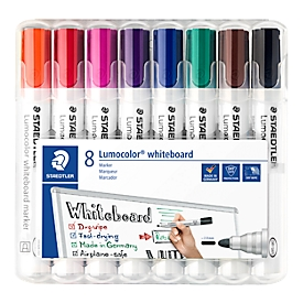 STAEDTLER Whiteboardmarker Lumocolor®, 8er Set, farbsortiert