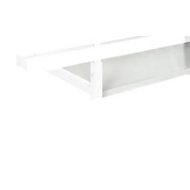 Stahlablage Serie TPB, Montage unterhalb Tischplatte Serie TPB, Tragkraft 30 kg, für Tischbreite 1500 mm